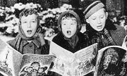 Christmas carol singers 1957